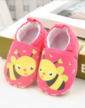 Sepatu Slip On Bayi Perempuan Motif Lebah
