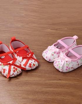 Sepatu Anak Bayi Perempuan Lucu Motif Bunga