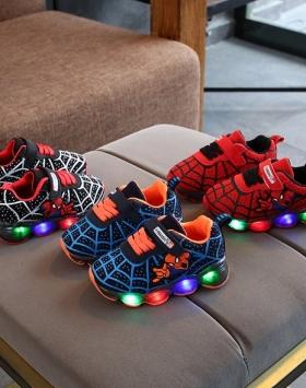 Sepatu Anak Model Spiderman LED Impor