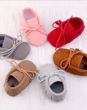 Sepatu Bayi Perempuan Tali Rumbai