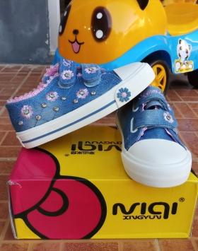 Sepatu Anak Jeans Bunga Matahari