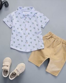Kemeja Setelan Celana Pendek Anak Laki-Laki