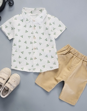Pakaian Kemeja Lengan Pendek Anak Anak