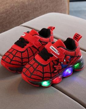 Sepatu Anak Led Spiderman Murah