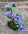 Pohon Hiasan Bunga Mawar Warna Biru