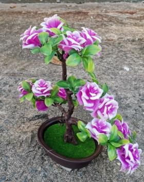 Pohon Hiasan Bunga Mawar Warna Ungu