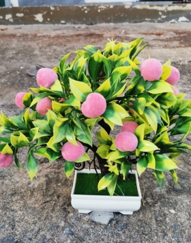 Hiasan Bonsai Buah Warna Peach