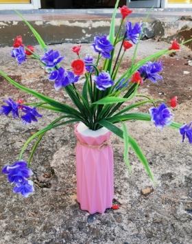 Bunga Rose Multiflora Biru