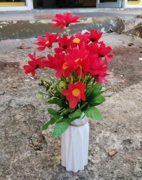 Buket Bunga Merah Hiasan Murah Asli Import