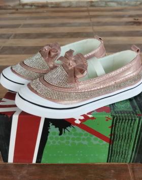 Sepatu Anak Perempuan Glitter Rose Pink Impor