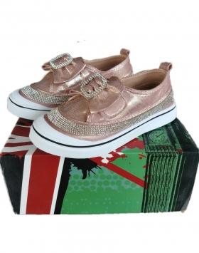 Sepatu Anak Perempuan Glitter Pita Jepang