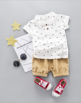Baju Setelan Kaos Berkerah Anak Impor