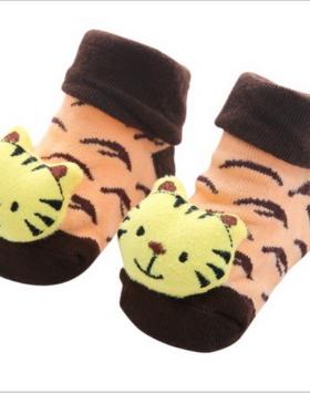 Kaos Kaki Bayi Gambar Macan Lucu
