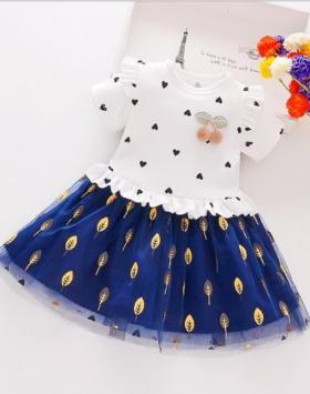Dress Anak Semi Brokat Impor 2020
