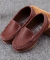 Sepatu Loafers Anak Warna Coklat Impor