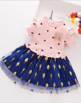 Dress Anak Perempuan Terbaru Impor Pink Soft
