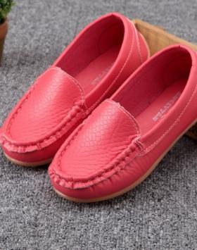 Sepatu Loafers Anak Warna Pink Impor