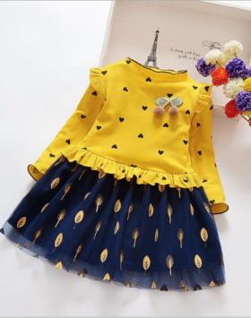 Baju Dress Anak Perempuan Motif Love Impor