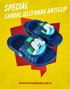 Sandal Jelly Anak Anti Slip