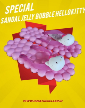 Sandal Jelly Bubble Hello Kitty