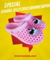 Sandal Jelly Crocs Minnie Impor