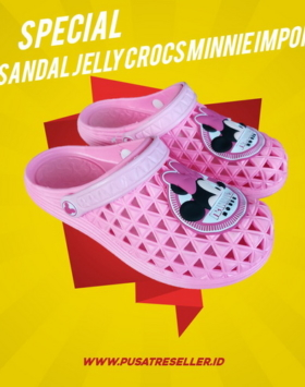 Sandal Jelly Crocs Minnie Impor
