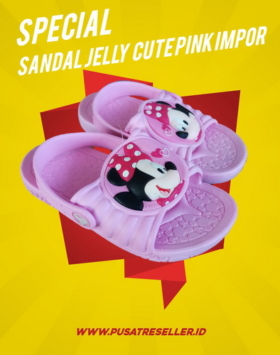 Sandal Jelly Cute Pink Impor