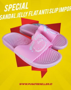 Sandal Jelly Flat Anti Slip Impor
