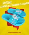 Sandal Jelly Gambar Elsa Impor