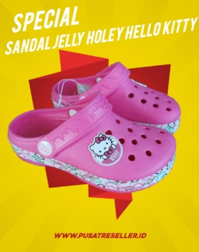 Sandal Jelly Holey Hello Kitty