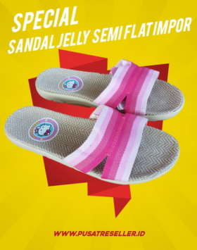 Sandal Jelly Semi Flat Impor