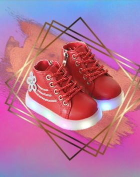 Sepatu Sneakers Led Charming Style