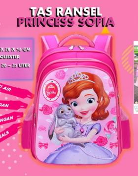Tas Ransel Anak Putri Sofia Impor