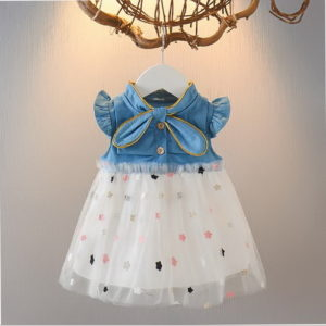 Dress Anak Denim Rok Tutu Impor 2020