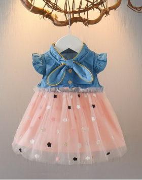 Dress Anak Denim Rok Tutu Impor 2020
