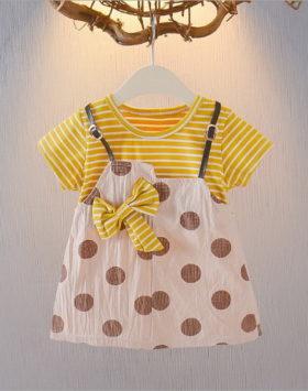 Mini Dress Anak Motif Polkadot Usia 1-3 Tahun