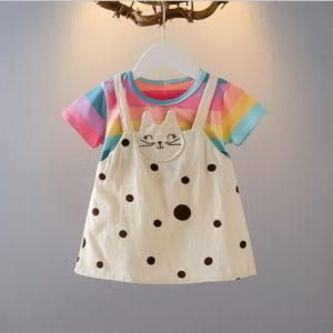 Mini Dress Kaos Anak Simple Impor 2020