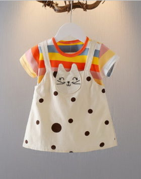 Mini Dress Kaos Anak Simple Impor 2020