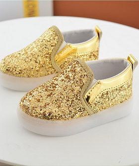 Sepatu LED Glitter Anak Perempuan