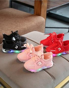 Sepatu Sneakers Anak LED Fashion Kekinian 2020