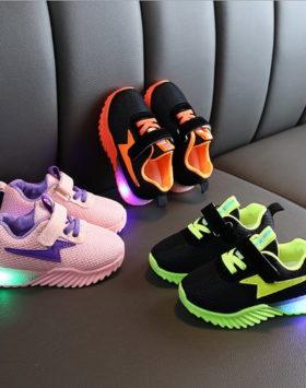 Terbaru Sepatu LED Thunder Impor Size 21-25