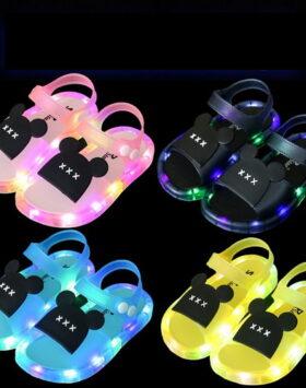 Terbaru Sandal Flat Anak LED Impor 2020