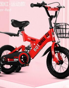 Sepeda Phoenix Anak Warna Merah Dengan Shock Ukuran 12 Inch