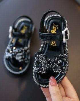 Terbaru Sandal Anak Ermez Glitter Black 2020