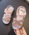 Terbaru Sandal Anak Ermez Glitter Pink 2020