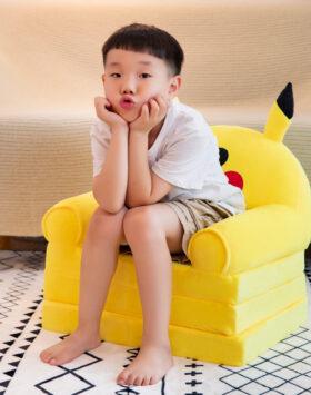 Terbaru Sofa Anak Model Lipat 3 Lapis Pikachu