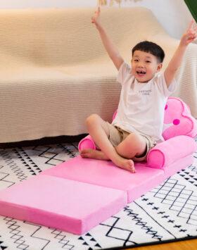 Terbaru Sofa Anak Model Lipat 3 Lapis Pink