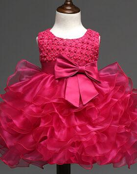 Terbaru Dress Ulang Tahun Anak Magenta 2020