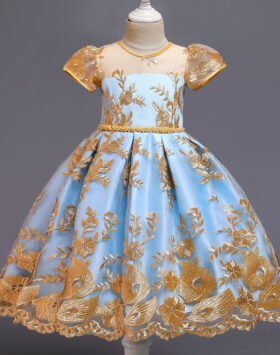 Terbaru Gaun Anak Blink Golden Impor 2020