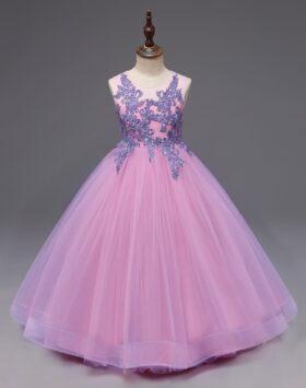 Terbaru Gaun Anak Bordir Lavender 2020